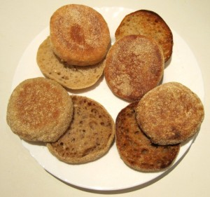 Wheat & Rye Sourdough English Muffins